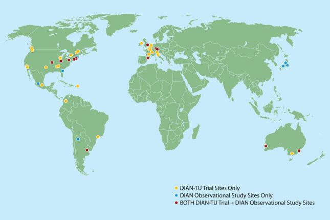 Carte indiquant la localisation des sites d'étude